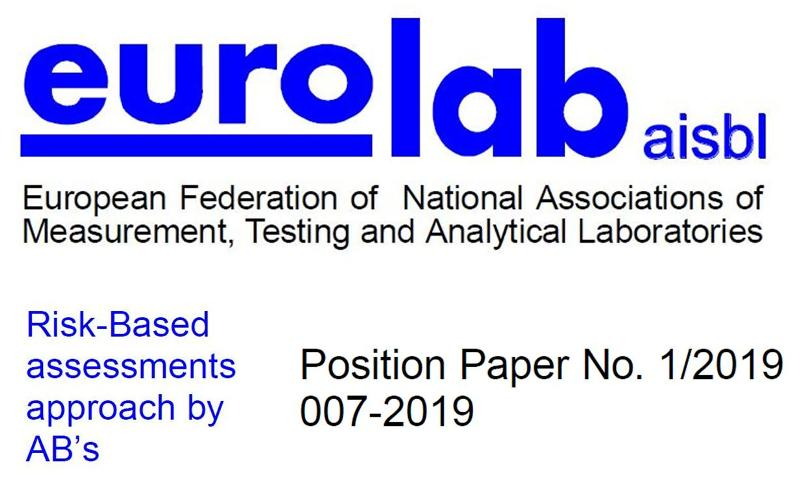 Risk-based assessments approach: il Position Paper di EUROLAB aisbl